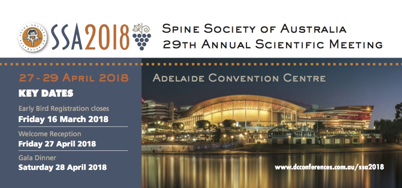 Spine Society of Australia 29th Annual Scientific Meeting