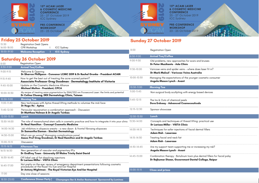15th ACAM Laser and Cosmetic Medicine Conference